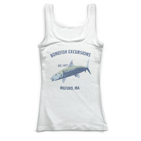 Fly Fishing Vintage Fitted Tank Top - Personalized Bonefish