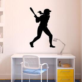 Softball Player Batting Removable ChalkTalkGraphix Wall Decal