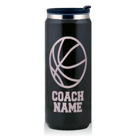 Stainless Steel Travel Mug Basketball Coach