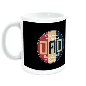 Guys Lacrosse Ceramic Mug - Greatest Dad Stripes