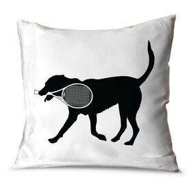 Tennis Throw Pillow Tanner the Tennis Dog