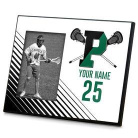 Wood Frame - Pentucket Youth Lacrosse Logo (Black)
