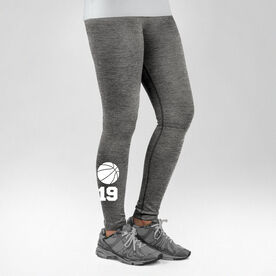 Basketball Performance Tights Basketball Icon with Number