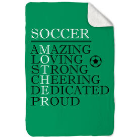 Soccer Sherpa Fleece Blanket - Mother Words