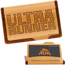 Ultra Runner Maple Business Card/Credit Card Holder