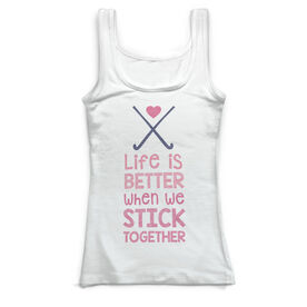Field Hockey Vintage Fitted Tank Top - Stick Together