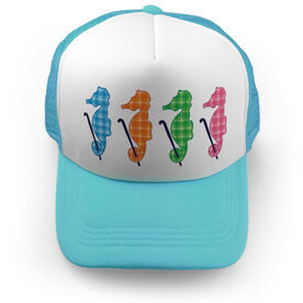 Field Hockey Trucker Hat - Seahorses