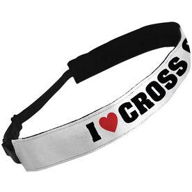 Julibands No-Slip Headbands I Heart Cross Country