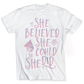 Vintage Cheerleading T-Shirt - She Believed She Could So She Did