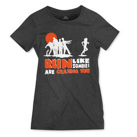 Women's Everyday Runners Tee Run Like Zombies Are Chasing You