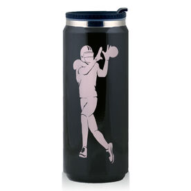 Stainless Steel Travel Mug Wide Football Receiver Silhouette
