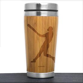 Bamboo Travel Tumbler Baseball Player