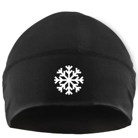 Skiing & Snowboarding Beanie Performance Hat - Snowflake