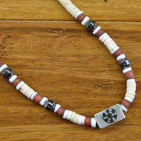 Power Hematite SportBEAD Soccer Necklace (Ivory) -CC