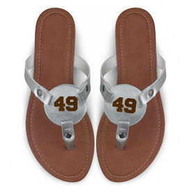 Engraved Thong Sandal Athletic Number