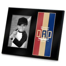 Baseball Photo Frame - Greatest Dad Stripes