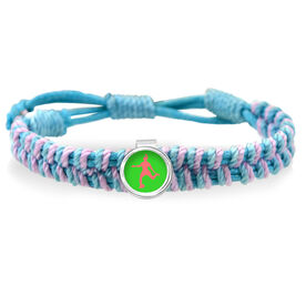 Soccer Girl Adjustable Woven SportSNAPS Bracelet
