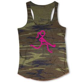 Field Hockey Camouflage Racerback Tank Top - Neon Field Hockey Girl