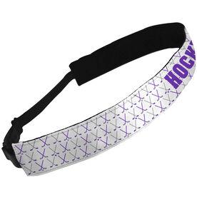 Julibands No-Slip Headbands Hockey with Crossed Hockey Sticks Pattern