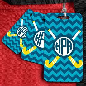 Field Hockey Bag/Luggage Tag Monogram With Crossed Sticks