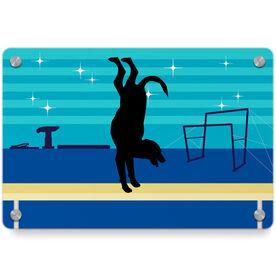 Gymnastics Metal Wall Art Panel - Leo The Gymnastics Dog