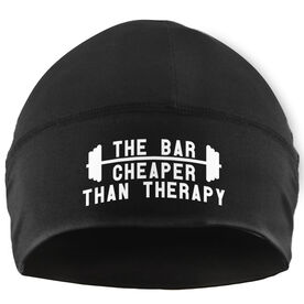 Beanie Performance Hat - The Bar Is Cheaper Than Therapy (White Lettering)