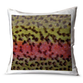Fly Fishing Throw Pillow Rainbow Trout