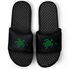 Crew Black Slide Sandals - Turtle