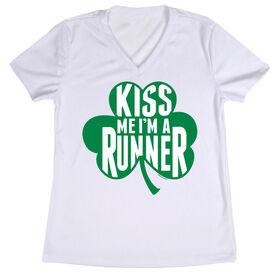 Women's Running Short Sleeve Tech Tee Kiss Me Shamrock Runner