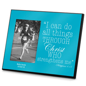 Running Photo Frame All Things Through Christ