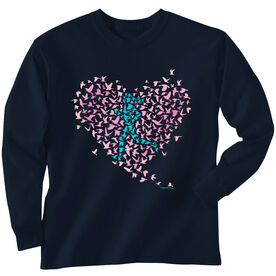 Youth T-Shirt Long Sleeve Run With Your Heart