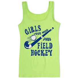 Field Hockey Women's Athletic Tank Top Girls Just Wanna Play Field Hockey