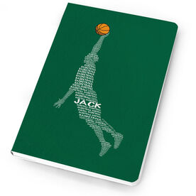 Basketball Notebook Personalized Basketball Words Guy