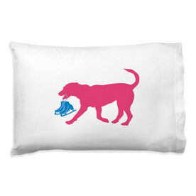 Figure Skating Pillowcase - Axel The Figure Skating Dog