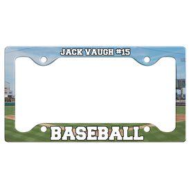 Custom Baseball Player License Plate Holders