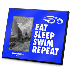 Swimming Photo Frame Eat Sleep Swim Repeat