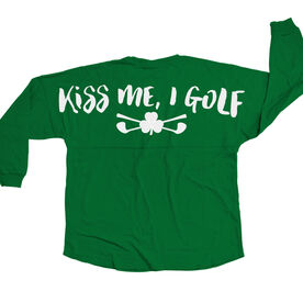 Golf Statement Jersey Shirt Kiss Me I Golf