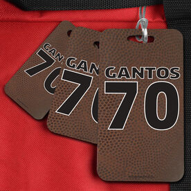 Football Bag/Luggage Tag Football Texture With Name And Number