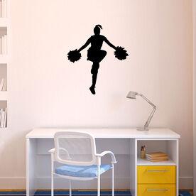 Cheerleader Removable ChalkTalkGraphix Wall Decal
