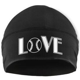 Beanie Performance Hat - Love Softball (White Lettering)