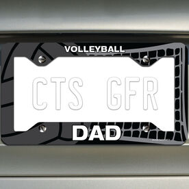 Volleyball License Plate Holder Volleyball Dad