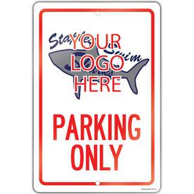 "Swimming 18"" X 12"" Aluminum Room Sign Custom Swimming Logo Parking Only"