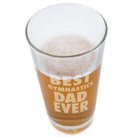 20 oz. Beer Pint Glass Best Gymnastics Dad Ever
