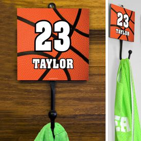 Basketball Hook Personalized Big Number with Basketball