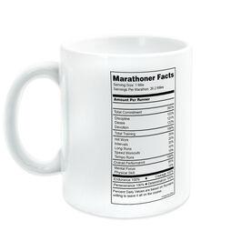 Running Ceramic Mug Marathoner Facts