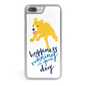 Running iPhone® Case - Happiness Is Running With Your Dog