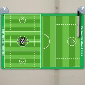 "Lacrosse Custom Dry Erase Coach Board Guys Full And Half Field - 18"" X 12"""
