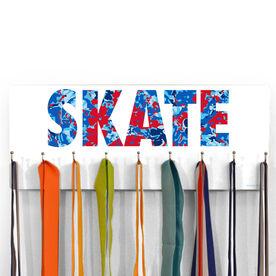 Figure Skating Hooked on Medals Hanger - Floral Skate