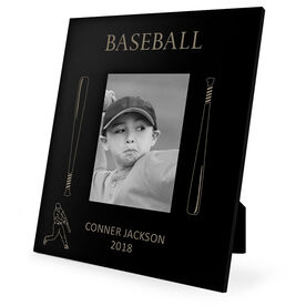 Baseball Engraved Picture Frame - Baseball Bats