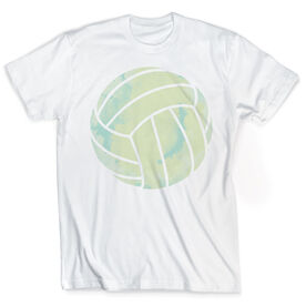 Vintage Volleyball T-Shirt - Watercolor Volleyball
